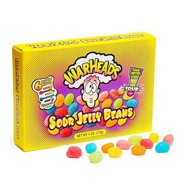 Warheads Sour Jelly Beans Theater Box (113g)
