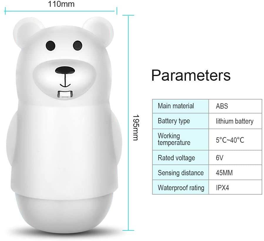 Automatic Hands-Free Non-Contact Foam Soap Dispenser - Bear image