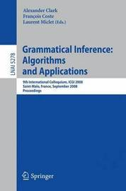 Grammatical Inference: Algorithms and Applications image