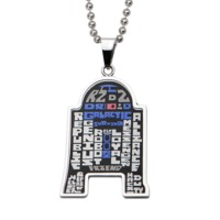 Star Wars R2-D2 Typography Pendant Necklace image