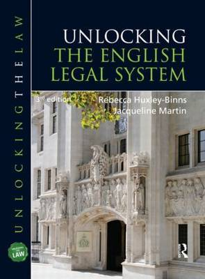 Unlocking The English Legal System by Rebecca Huxley-Binns image