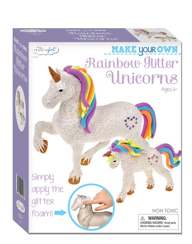 My Studio Girl: Make Your Own Rainbow Glitter Unicorns Kit