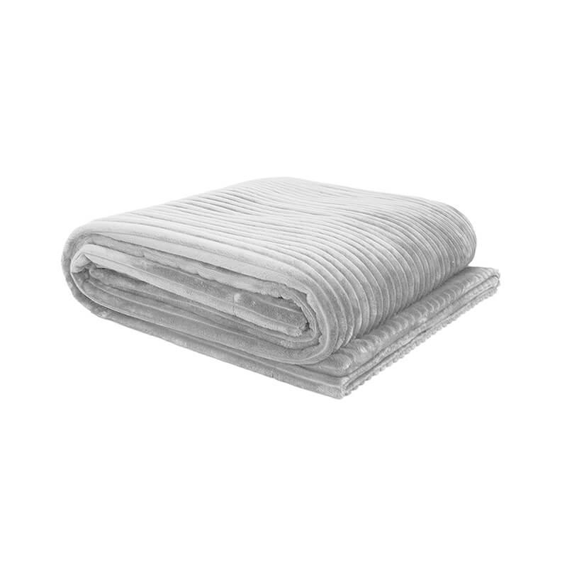 Bambury Silver Channel Ultraplush Throw (130 x 150cm) image