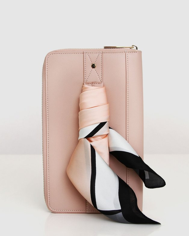 Belle and Bloom: Wilona Travel Wallet - Blush