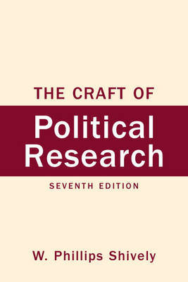 The Craft of Political Research by W.Phillips Shively image