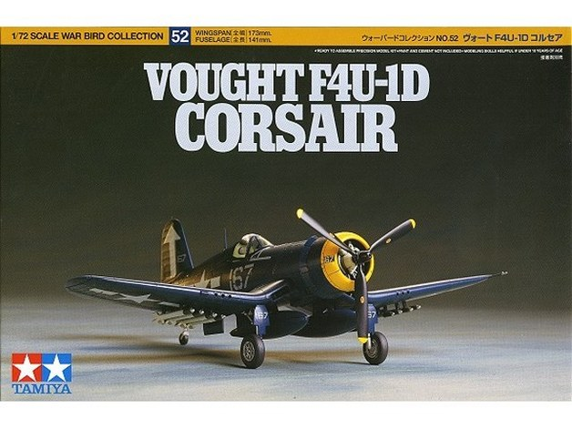 Tamiya U.S. Vought F4U-1D Corsair 1/72 Aircraft Model Kit