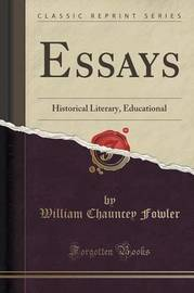 Essays by William Chauncey Fowler