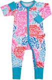 Bonds Zip Wondersuit Long Sleeve - Tokyo Bloom (0-3 Months)