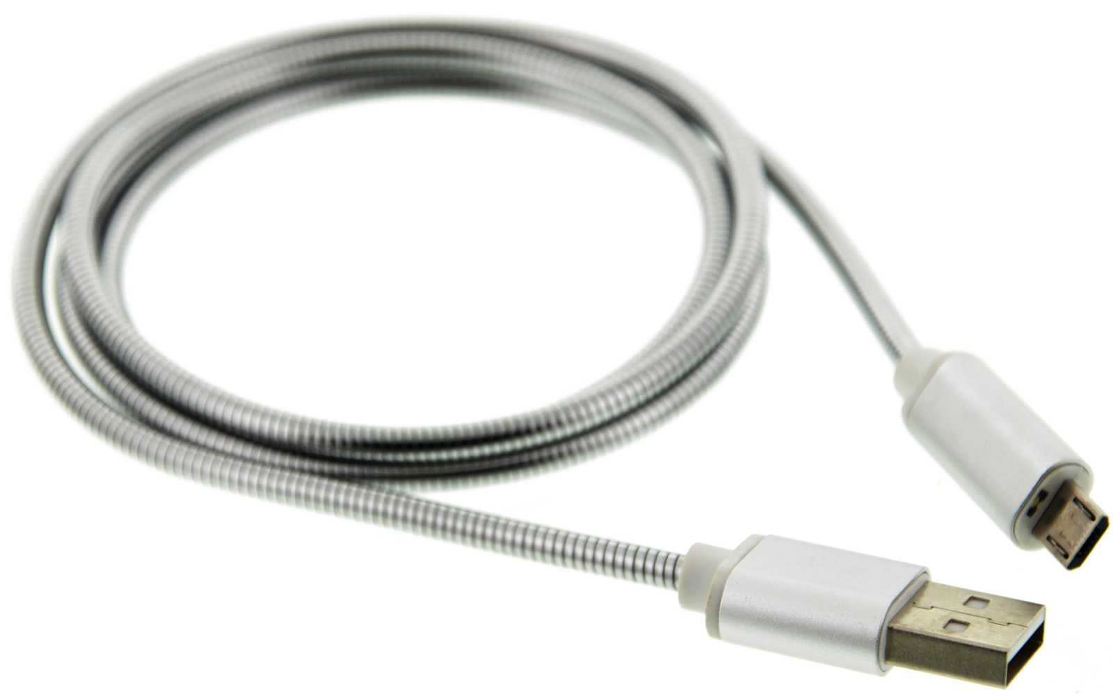 TouchLight Charge: 1m USB Charging Cable - Micro USB (Silver) image