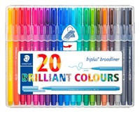 Staedtler: Triplus Broadliner 0.8mm (Wallet of 20)