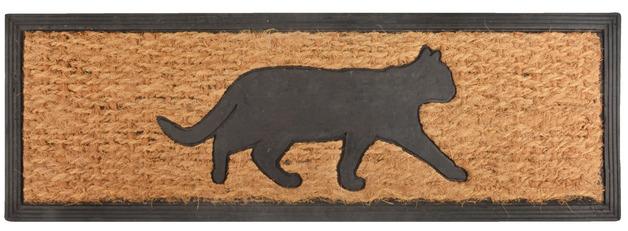 Rubber Doormat - Cat (75x25x0.9cm)