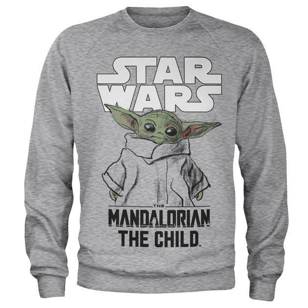 Star Wars: Mandalorian Child Sweatshirt - Heather Grey (X-Large)
