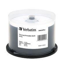 Verbatim CD-R 700MB 50Pk White Thermal 52x Azo