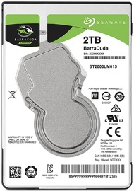 2TB Seagate Barracuda Sata 6GB/s 128MB Cache 2.5-Inch 7mm Internal Hard Drive