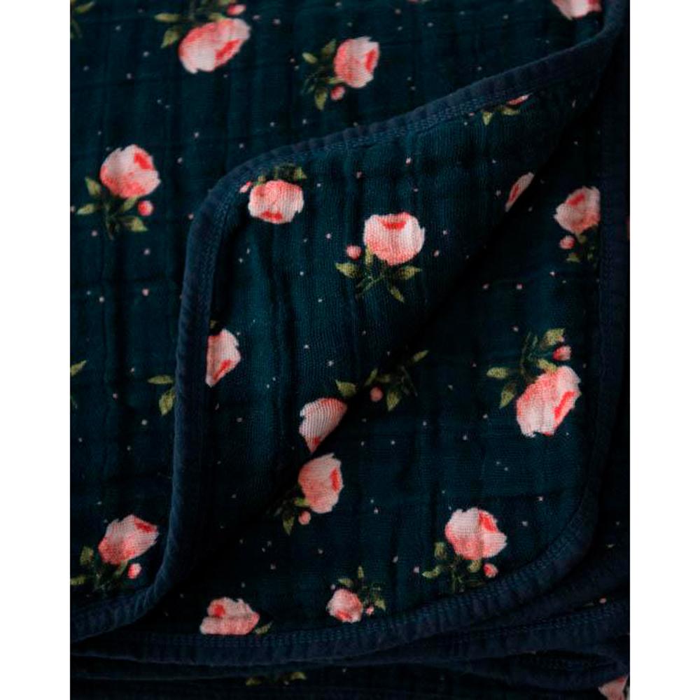 Little Unicorn - Cotton Muslin Quilt - Midnight Rose image