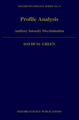 Profile Analysis by David M. Green image
