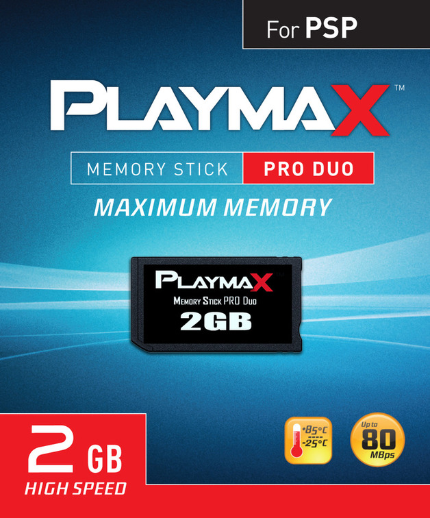 Playmax PSP Pro Duo Memory Stick 2GB For