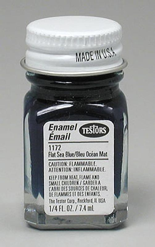 Testors: Enamel Paint - Flat Sea Blue