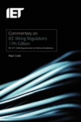 Commentary on IEE Wiring Regulations by Paul Cook image