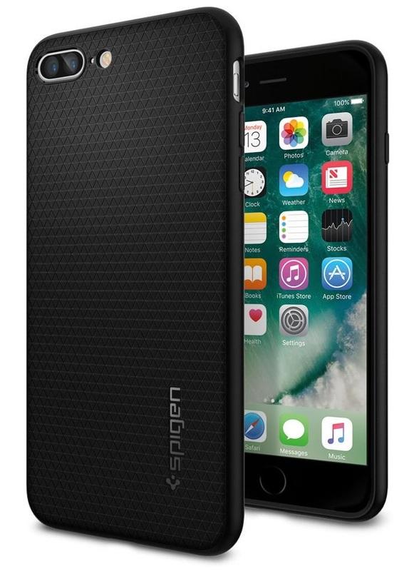 Spigen: iPhone 7 Plus - Liquid Armour Case (Black)