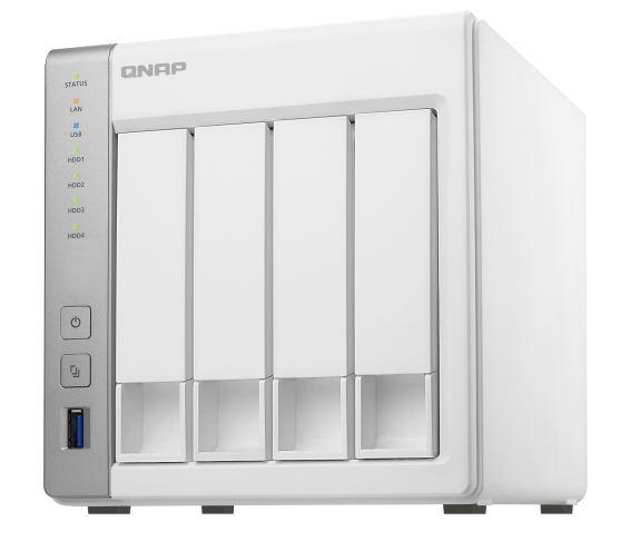 QNAP TS-431P NAS, 4BAY (NO DISK), 1GB, AL-212 DUAL CORE, USB 3.0(3), GbE(2), TWR, 2YR image