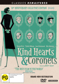 Kind Hearts And Coronets on DVD image