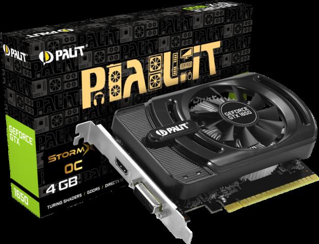 NVIDIA GeForce GTX 1650 StormX OC 4GB Palit GPU