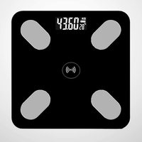 Bluetooth Body Fat Weighing Scale - Night Black