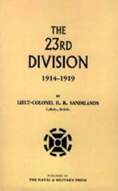 The Twenty-third Division 1914-1919 by H.R Sandilands image