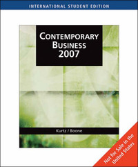 Contemporary Business 2007 by David L Kurtz image