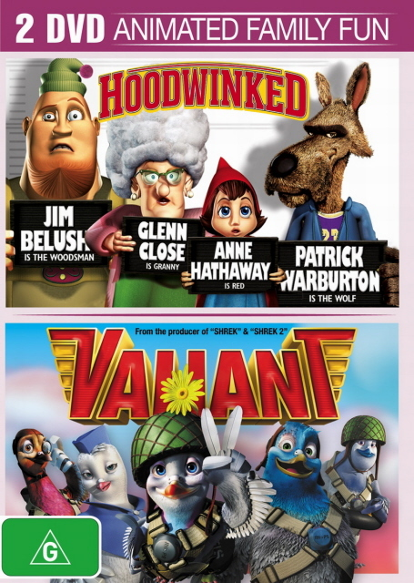 Hoodwinked / Valiant (2 Disc Set) on DVD