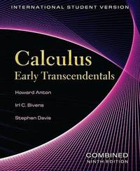 Calculus: Early Transcendentals by Howard Anton