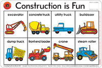 Learning Can Be Fun - Construction Is Fun - Placemat