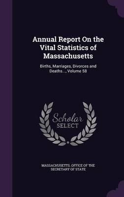 Annual Report on the Vital Statistics of Massachusetts image