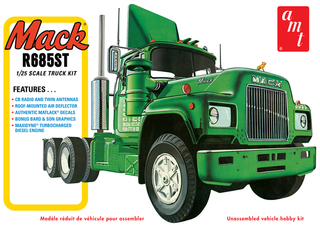AMT: 1/25 Mack R685ST Semi Tractor - Model Kit