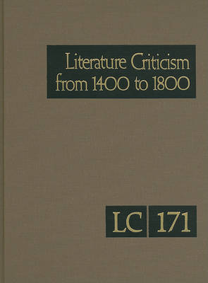 Literature Criticism from 1400 to 1800, Volume 171 image
