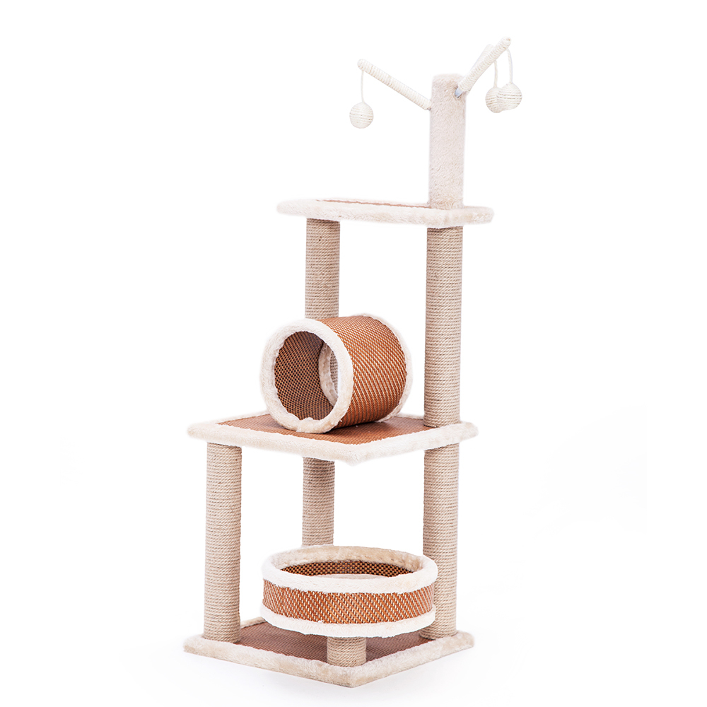 Cat Tree Scratcher (5 Levels) 1.1M With Bed & Barrel image
