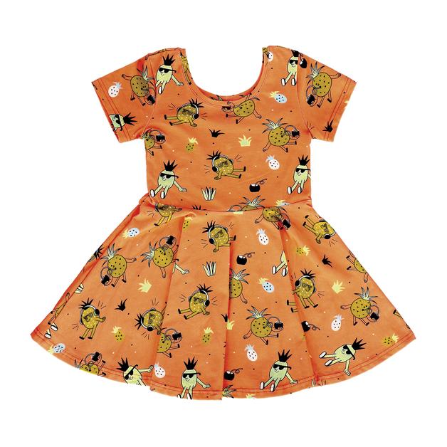 Raspberry Republic: Dress Pineapple Punch (Size 5)