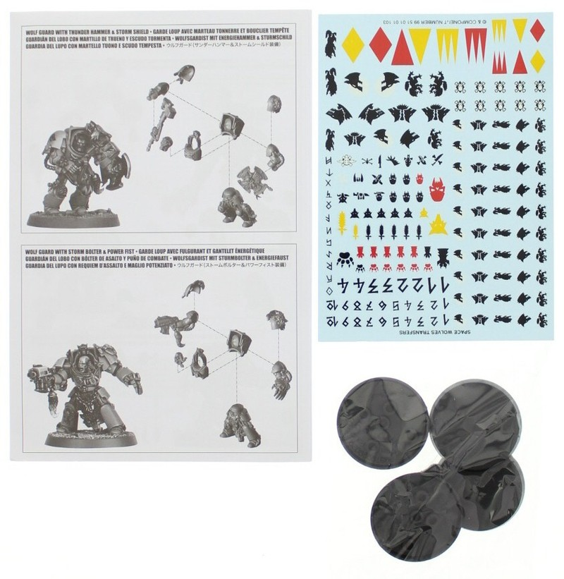 Warhammer 40,000 Space Wolves Wolf Guard Terminators image