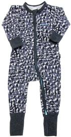 Bonds Zip Wondersuit Long Sleeve - Sketch Leopard (6-12 Months)