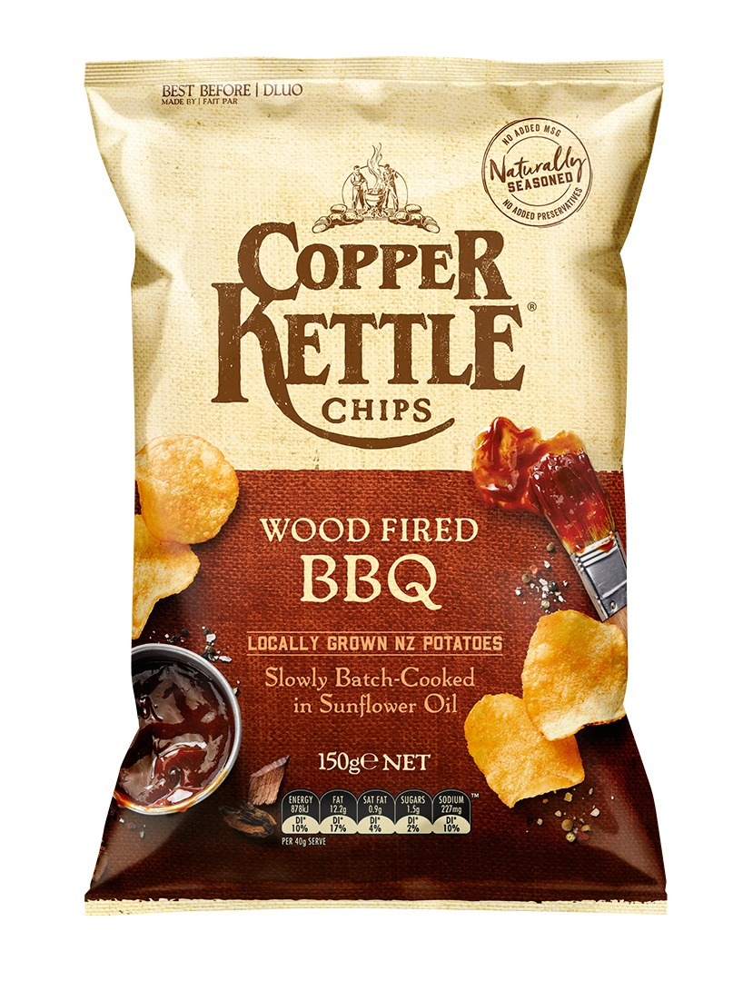 Copper Kettle Potato Chips - Wood Fired BBQ 150g image