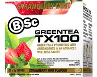BSc Green Tea TX100 - Strawberry Mint (60x3g)