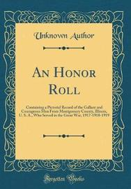 An Honor Roll by Unknown Author image
