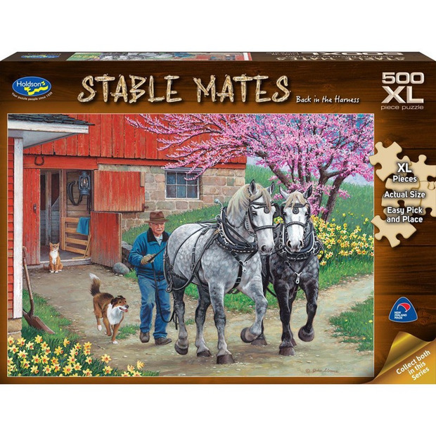 Holdson XL: 500 Piece Puzzle - Stable Mates (Back in the Harness)