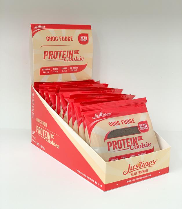 Justine's Protein Cookies - Chocolate Fudge (12 x 64g)