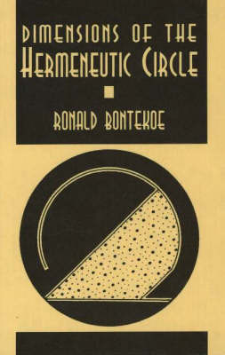 Dimensions Of The Hermeneutic Circle by Ronald Bontekoe image