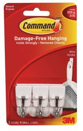 Command Wire Utensil Hooks - White (3 Pack)