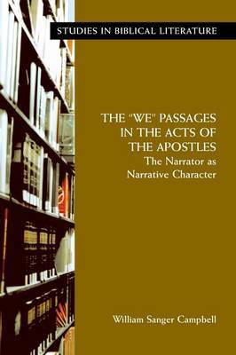 "The ""We"" Passages in the Acts of the Apostles by William Sanger Campbell image"