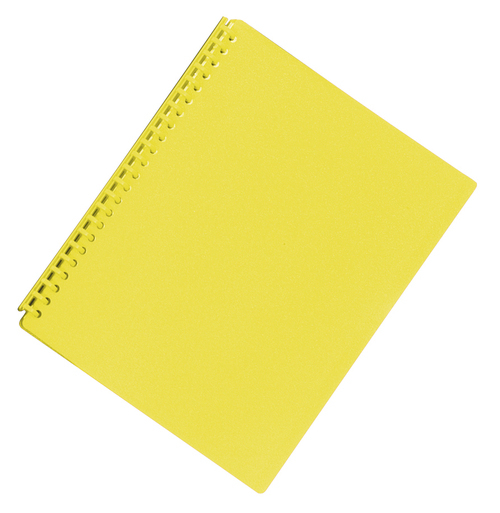 FM A4 20 Pocket Refillable Display Book - Yellow