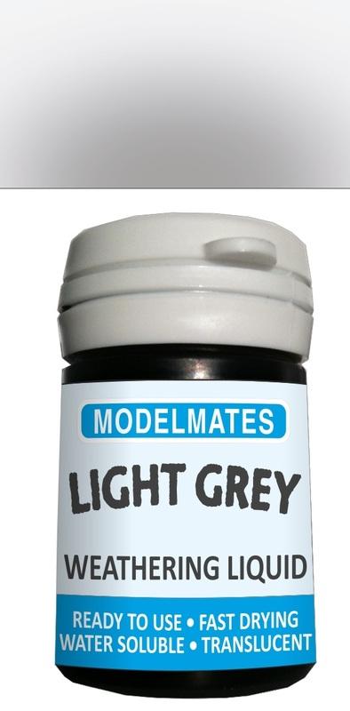 Modelmates: Translucent Weathering Liquid – Light Grey